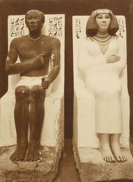 Egypt art, 3 statues at the Egyptian Museum