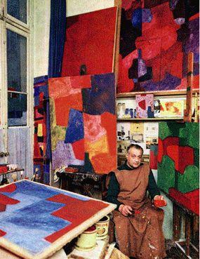 Poliakoff, dans son atelier                                                                                                                                                     Plus: