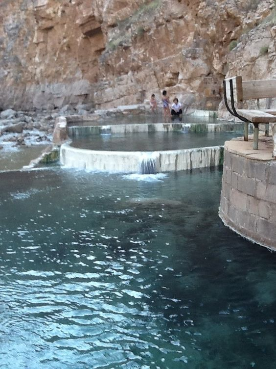 Naturally Heated Bathing Pools Near Zions National Park In