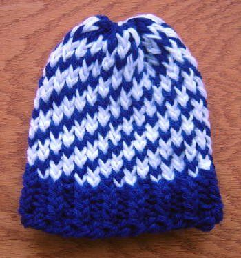 cool loom knitted hat tutorial Knitting on a Loom Pinterest Two tones, ...