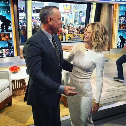 Today morning reunion of Tom Hanks And Meg Ryan ❤ #tomhanks #megryan #reunion…