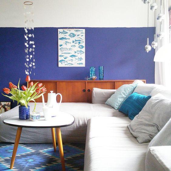 blau, türkis und ein touch orange #interior #einrichtung ...