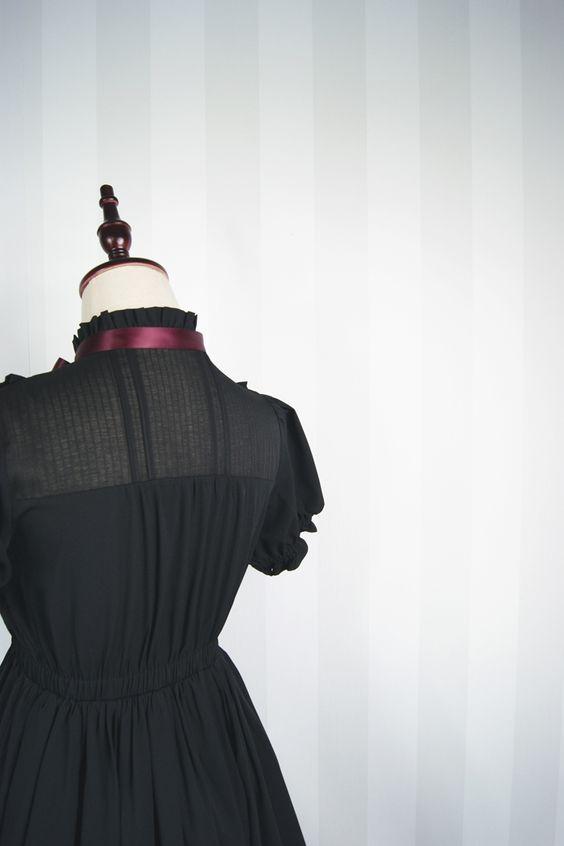 Dolly Delly Dulce Mori Chica Manga Corta Plisada Gasa Vestido de Verano con Volantes (Negro/Azul Claro) en Vestidos de Moda y Complementos Mujer en AliExpress.com | Alibaba Group