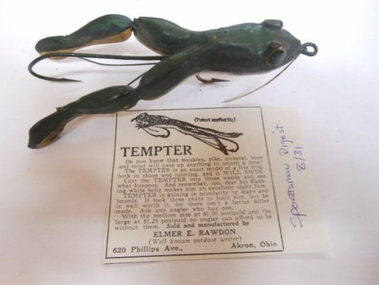1928 TEMPTER FROG in bass size