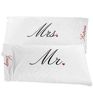 Personal Creations #Gifts  #Personalizedgifts Personalized Mr. & Mrs. Pillowcases - Her by Personal Creations. $19.99. Mr. & Mrs. Pillowcases - Her - Great Personalized Gifts via- http://www.AmericasMall.com/personalcreations-gifts