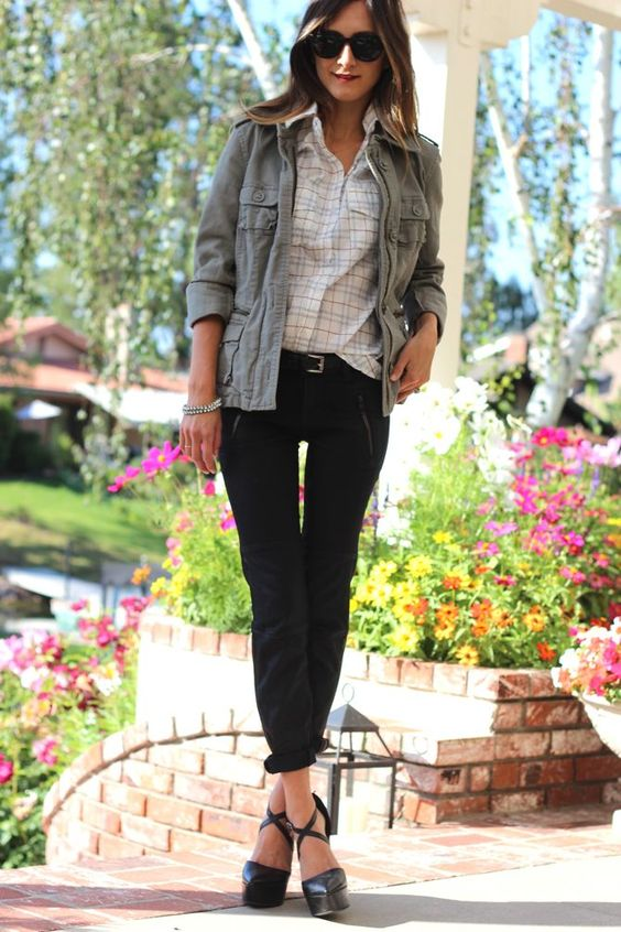 relaxed plaid