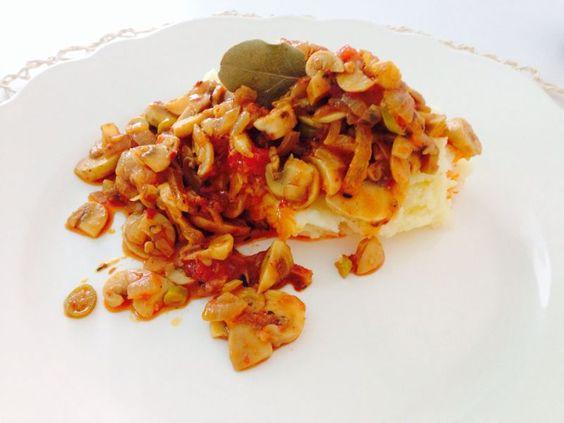 Patates Püreli Baharatlı Mantar  www.afiyetle.com
