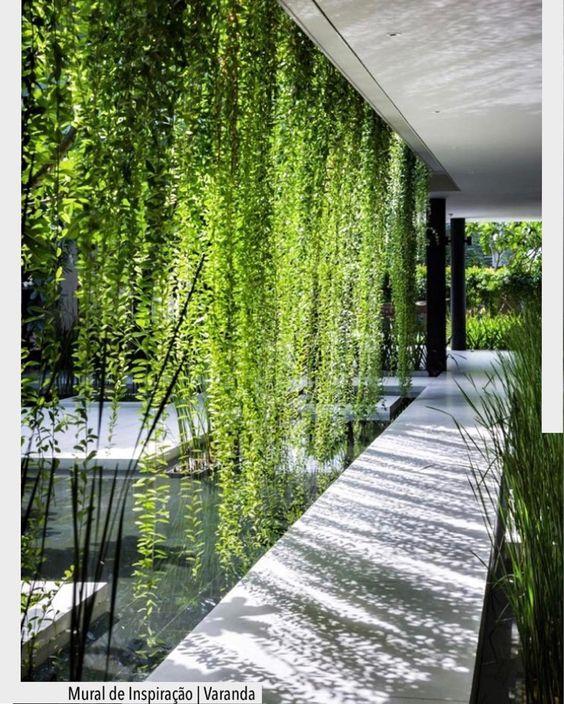 Que linda a cortina verde que se formou nesta circulação. Ad Pinterest/ arqdecoracao @arquiteturadecoracao @acstudio.arquitetura #arquiteturadecoracao #olioliteam #instagrambrasil #decor #arquitetura