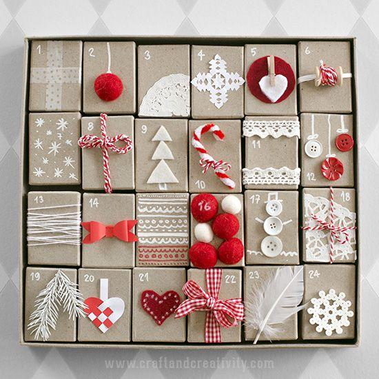 Gift Box Advent Calendar - by Craft & Creativity: