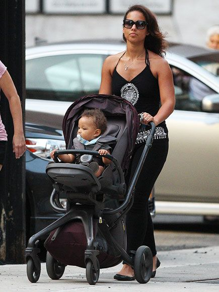 Alicia Keys strolling with son Egypt in New York City.