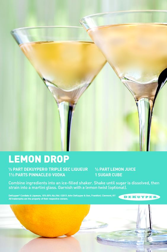 Lemon Drop. The perfect cocktail for girls night. #vodka #cocktail