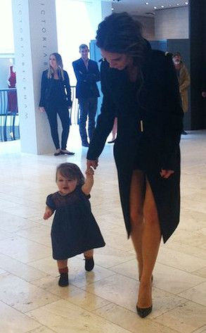 Harper Seven Beckham & Mommy