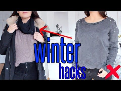 7 Winter Life Hacks You Must Know Youtube Diy Winter Clothes Sweater Hacks Clothing Hacks