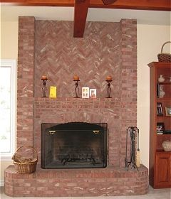 used brick corner fireplace | ... brick fireplace in traditional homes a brick fireplace can provide