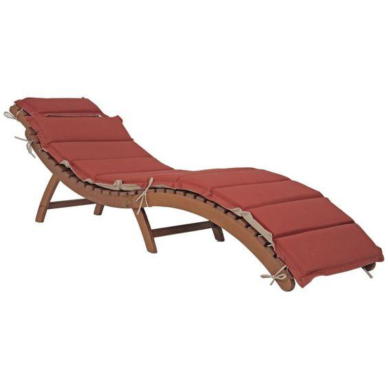 Faltliege NASSAU mit Auflage 184 (L) Sonnenliege Gartenliege Liege Holz…