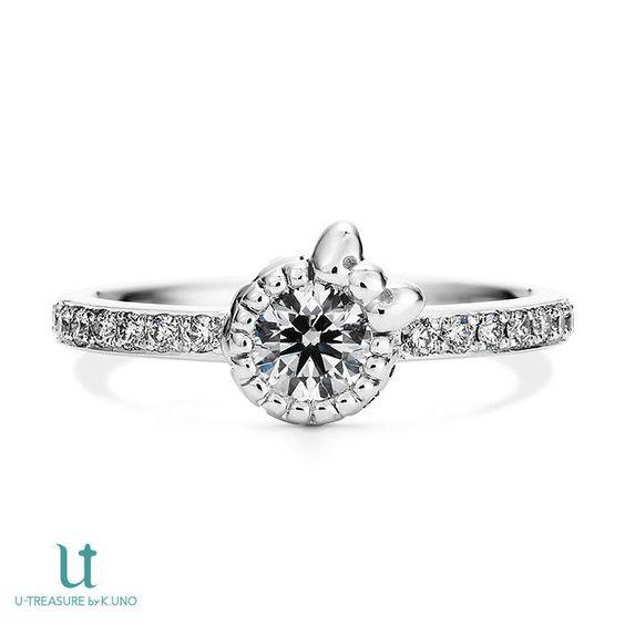 Hello Kitty Diamond Ribbon motif Engagement Ring Pt900 JAPAN NEW F/S SANRIO Gift #EngagementRing