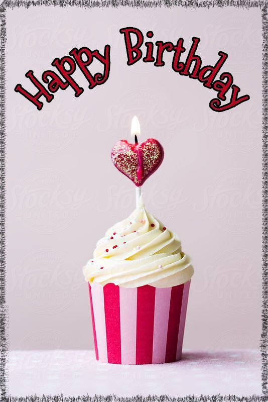 Happy Birthday Cupcake Candle Happy Birthday Spruche