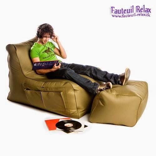 Fauteuil relax avec pouf Sit On It | Fauteuil relax | Pinterest