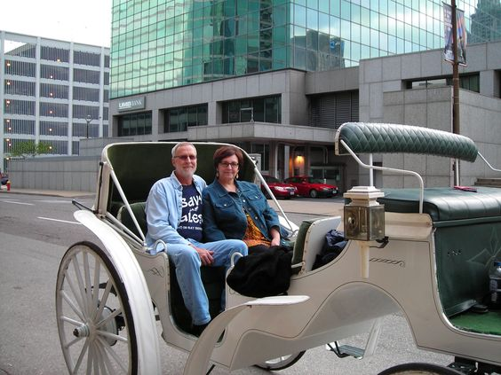 Our carriage ride in downtown St. Louis.