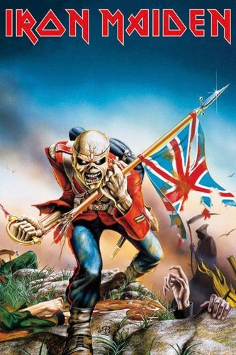 I can't believe I used to like something so gross looking, lol! Poster IRON MAIDEN - Trooper