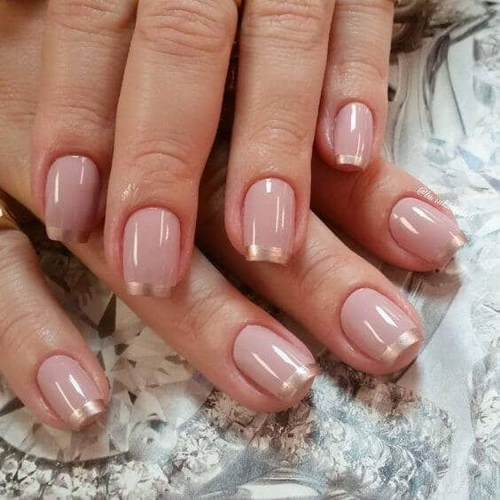 50 Awesome French Tip Nails To Bring Another Dimension To Your Manicure Natural Nail Designs Trendy Nails Nail Art Designs