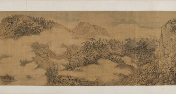 Song Xu (1525-1606), The Wang River estate, 1570s. Ink and color on silk. Freer Gallery.