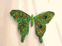 """Regency Peacock Butterfly Decoration 11"""""""