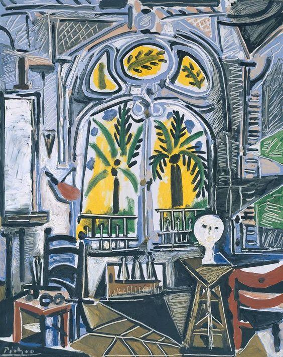 Pablo Picasso -The Studio,1955. Oil on canvas