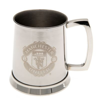 Man United Stainless Steel Tankard | Manchester United Gifts |  Man United Shop