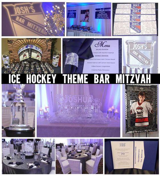 New York Rangers Ice Hockey Themed Bar Mitzvah Bar Mitzvah