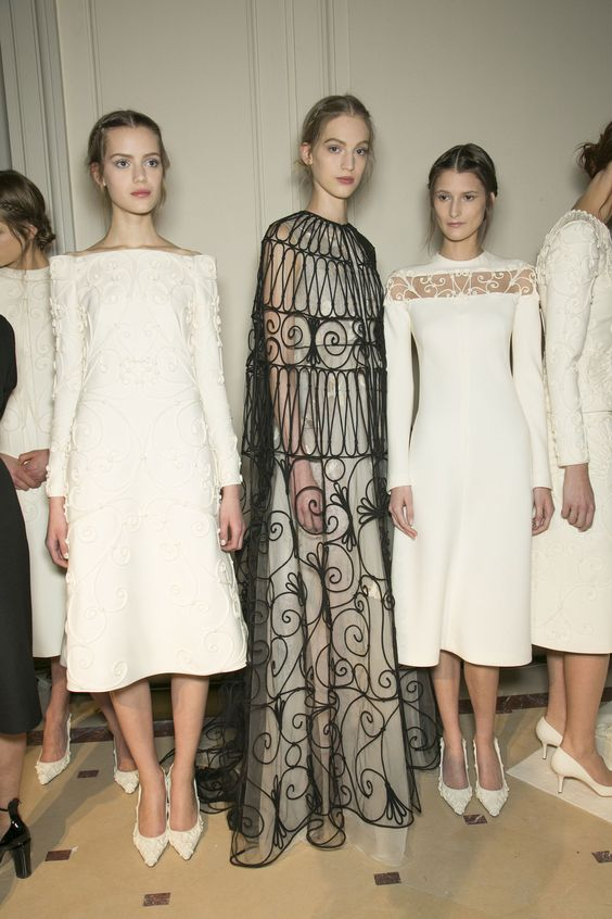 Paris Fashion Week Women Couture Spring Summer 2013 Valentino - January 2rd, 2013 Backstage stylebistro.com