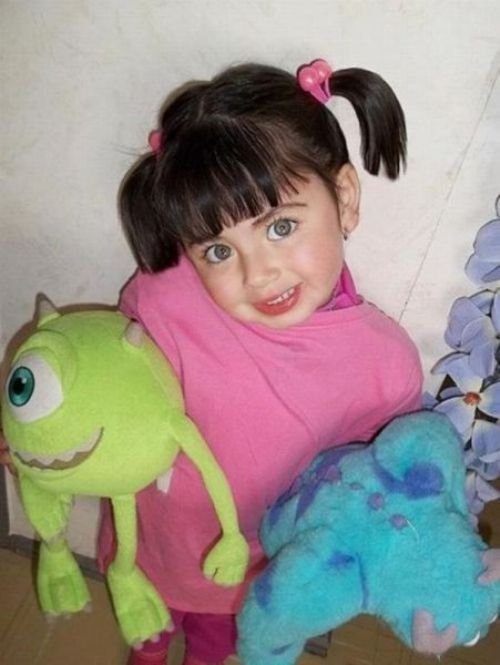 real life Boo! Omg this makes me want a little girl! So cute!
