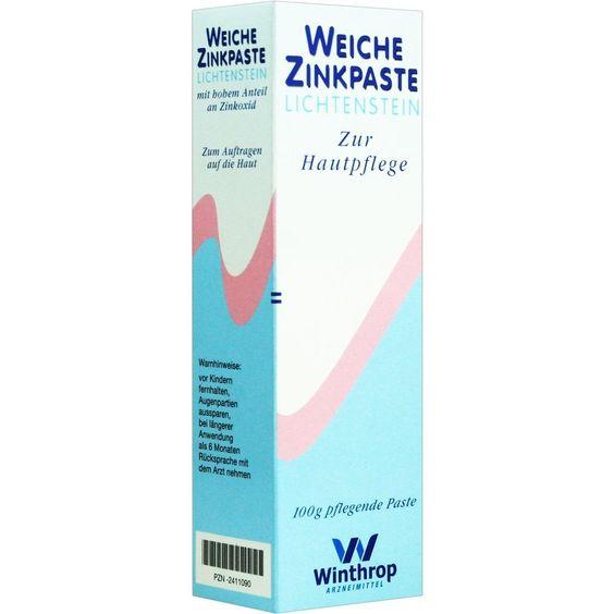 ZINKPASTE weich Lichtenstein:   Packungsinhalt: 100 g Paste PZN: 02411090 Hersteller: Zentiva Pharma GmbH Preis: 3,61 EUR inkl. 19 %…