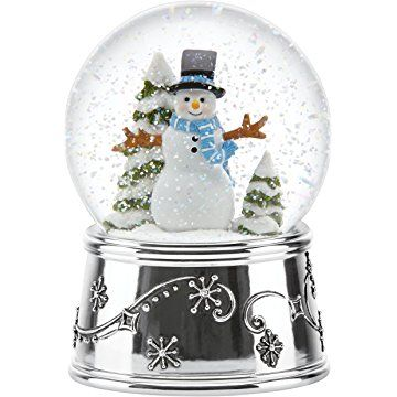 Reed & Barton Snowflurries Snowman Small Snowglobe