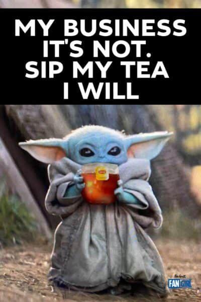Baby Yoda Sipping Soup Memes Themandalorian Starwars Babyyoda Yoda Meme Yoda Funny Funny Babies