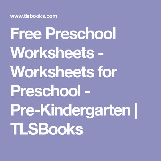 math worksheet : free preschool worksheets  worksheets for preschool  pre  : Tlsbooks Kindergarten Worksheets