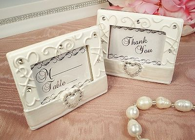 Heart Clasp Place Card Photo Frame