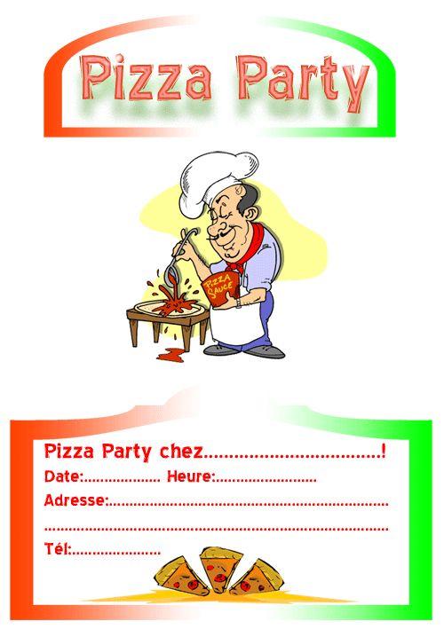 invitation pizza party   invitation / party / fête   pinterest, Party invitations