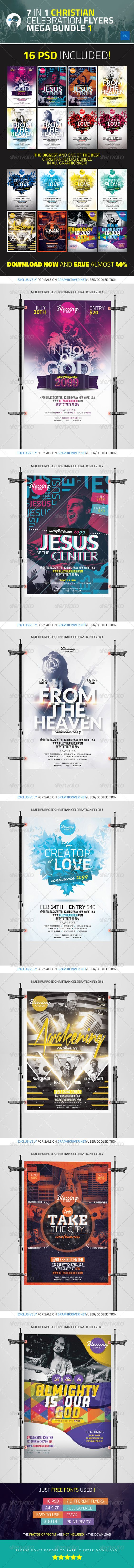 in christian celebration flyers mega bundle logos church 7 in 1 christian celebration flyers mega bundle 1 photoshop psd biggest pro
