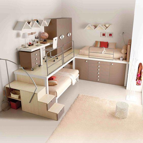 exemple déco chambre ado fille 17 ans  Loft, Meubles et Design