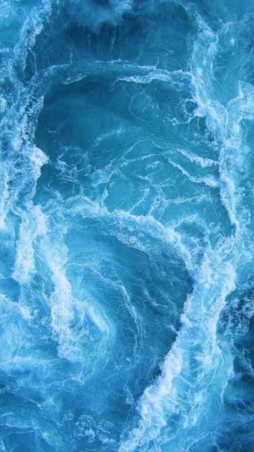 Churning Waves Wild Water Blue And White Aesthetic Water Elemental Ocean Waves Ocean Background Vintage