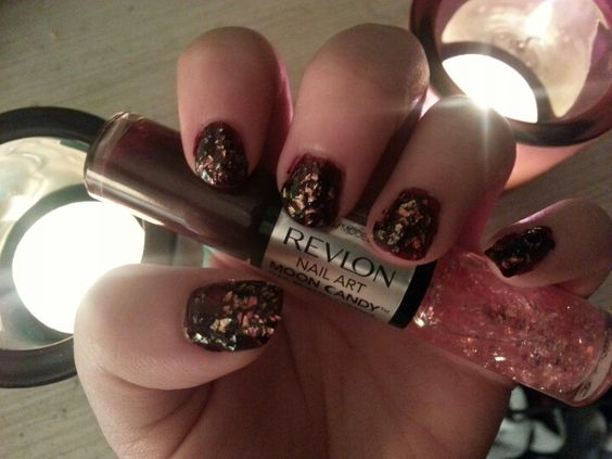 Just tried Revlon's new nail art two sided polish. Moon candy :) super cute.