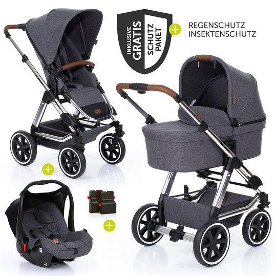 3in1 Kinderwagenset Condor 4 Air Diamond Special Edition Inkl Babywanne Babyschale Zubehorpaket Asphalt Kinderwagen Set Kinder Wagen Babyschale