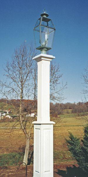New Bold Style Cedar Lantern Post