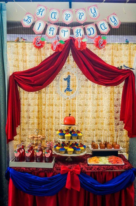 snow white birthday theme- first birthday: