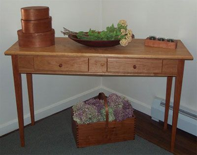 "Cherry 48"" Sofa Table with 2 drawers."