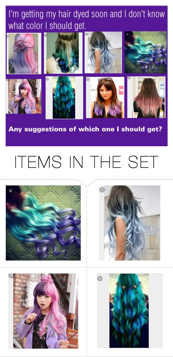 """""""Hair Dye Question"""" by catty-glitter-girl on Polyvore featuring art"""
