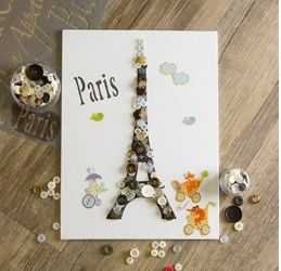 Take a trip to the Eiffel Tower without the travel! Kids make your own Eiffel Tower Canvas to decorate your space.