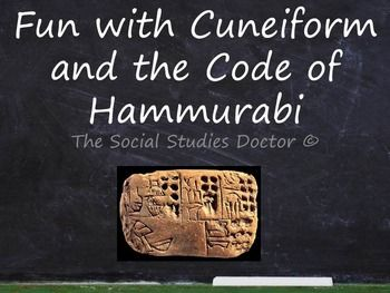 cuneiform and the code of hammurabi double worksheet primary sources middle school and the. Black Bedroom Furniture Sets. Home Design Ideas