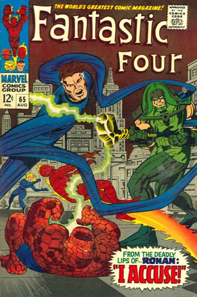 Fantastic Four #65 - First Appearance of Ronan The Accuser, the Kree and the Supreme Intelligence